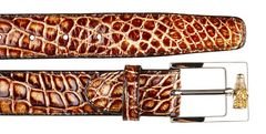Alligator Belt- Caramel