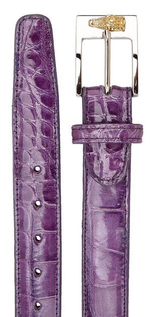 Alligator Belt- Lavender