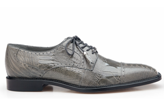 Batta, in Gray Ostrich Cap-toed Derby Dress Shoes Style: 14006