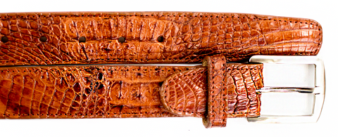 Crocodile Belt- Camel CLOSE OUT