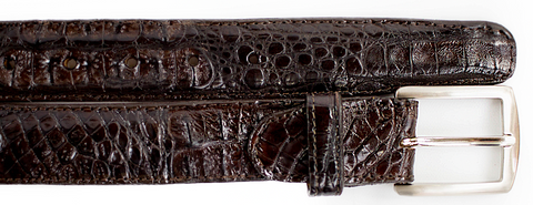Crocodile Belt- Brown