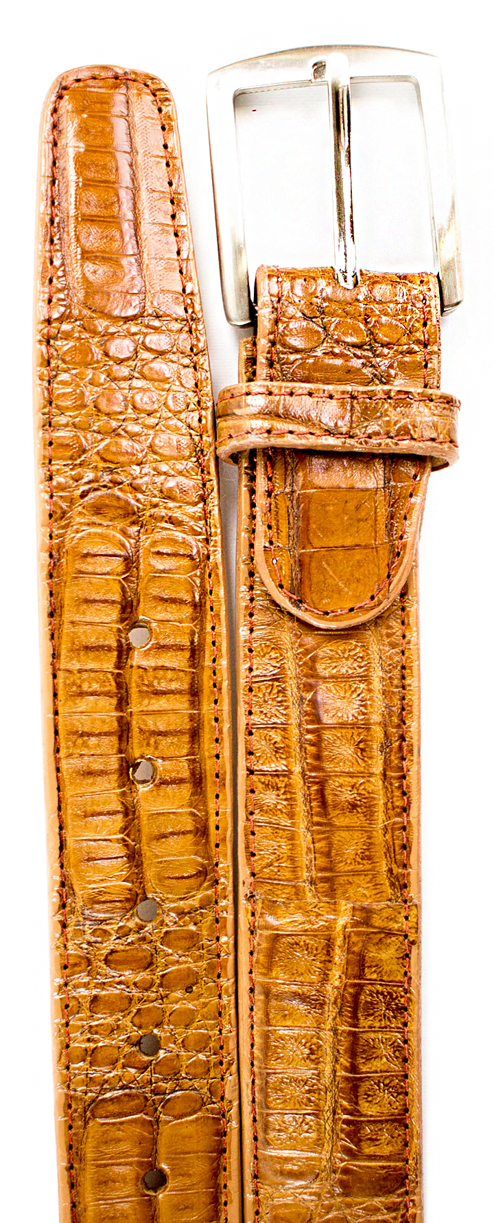 Crocodile Belt- Camel