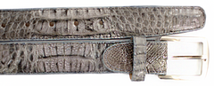 Crocodile Belt- Gray