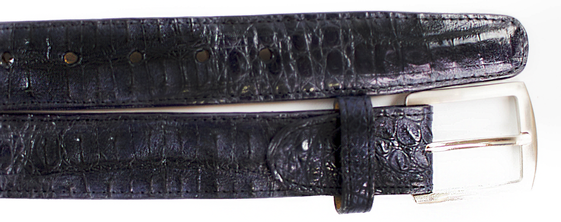 Crocodile Belt- Navy