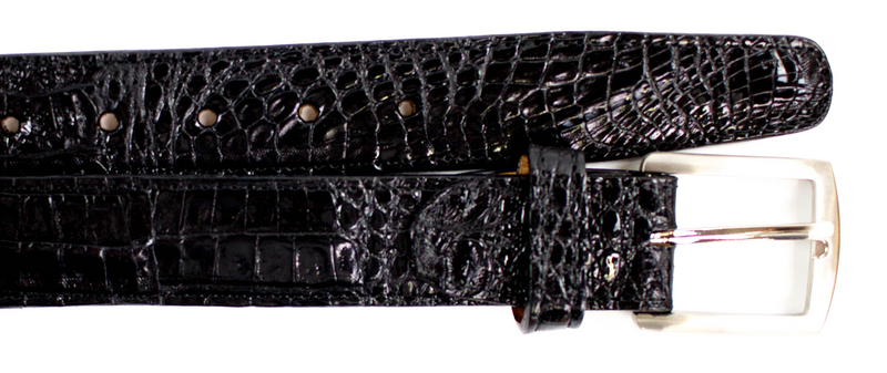 Crocodile Belt- Black