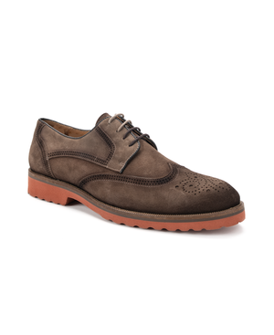 Cardiff II, Calf Suede Wing Tip Shoe