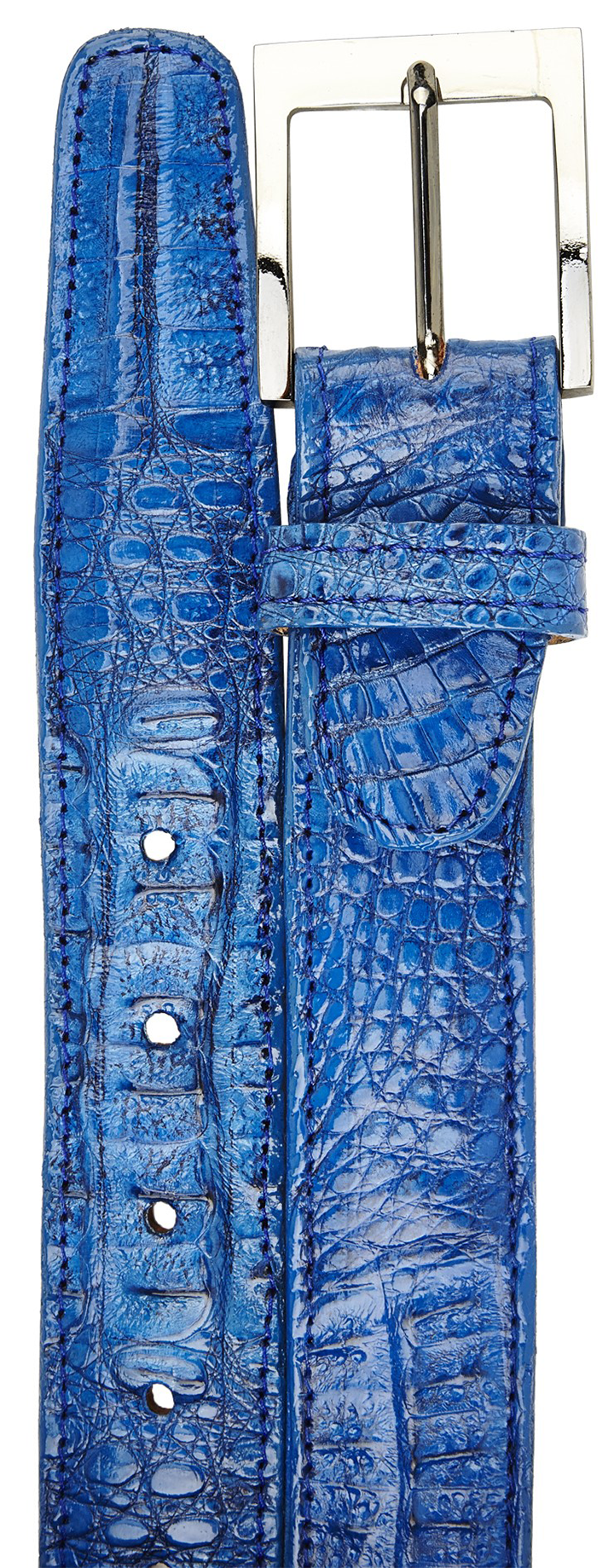Crocodile Belt- Ocean Blue