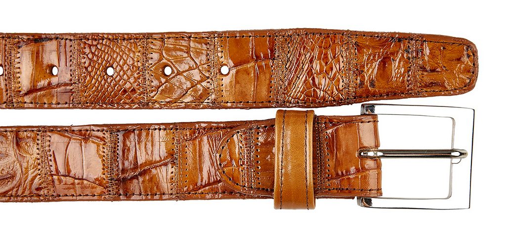 Caiman Belt- Patchwork Honey