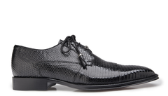 Karmelo in Black Lizard, Cap-Toed Derby with Tassled Laces, Style: 1497