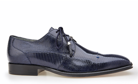 Karmelo in Navy Lizard, Cap-Toed Derby with Tassled Laces, Style: 1497