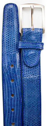 Lizard Belt- Blue Jean