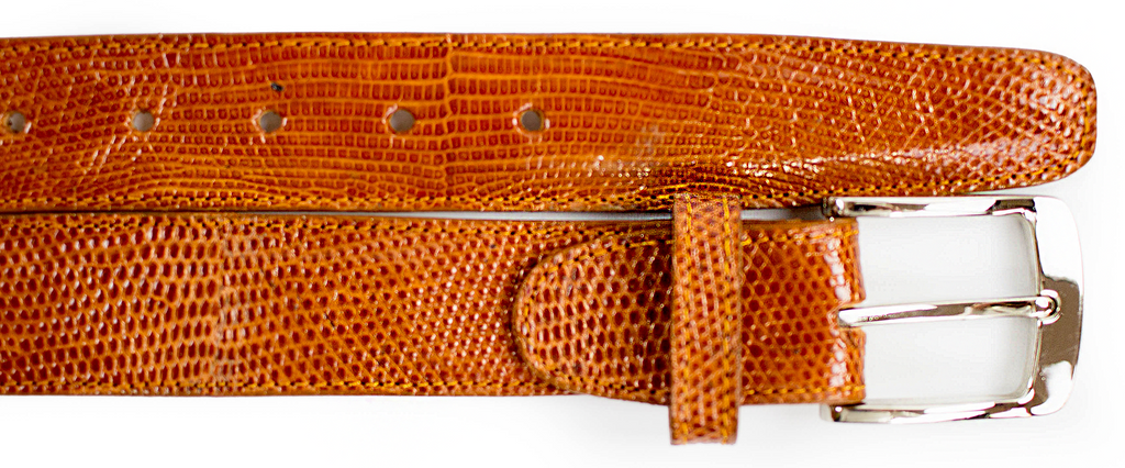 Lizard Belt- Tan