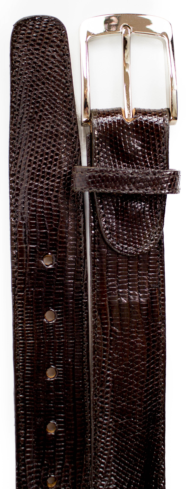 Lizard Belt- Brown CLOSE OUT