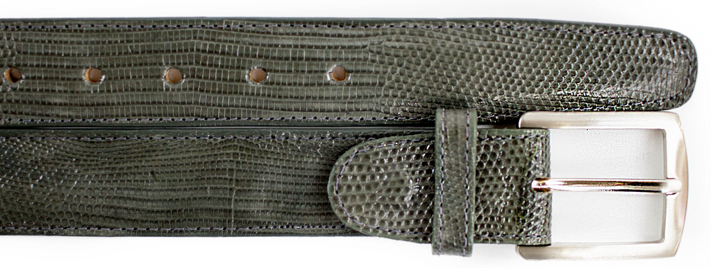 Lizard Belt- Gray