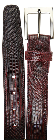 Lizard Belt- Antique Dark Burgundy