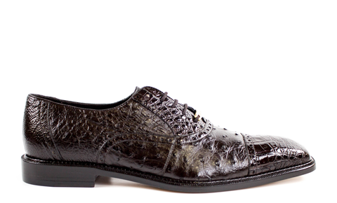 Onesto II in Brown, Ostrich and Crocodile, Men's Brogued Oxford, Style: 1419
