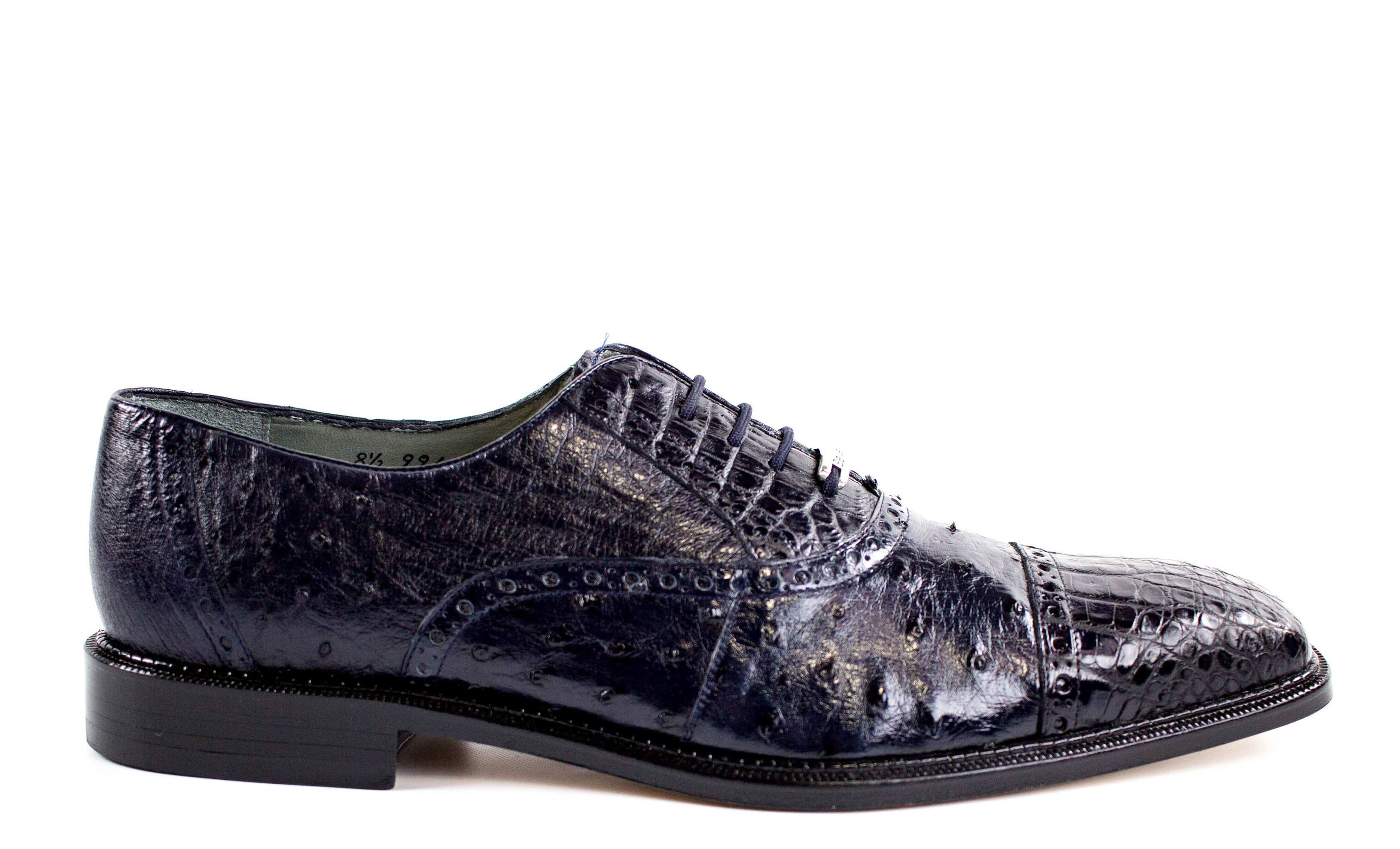 Onesto II, Ostrich and Crocodile, Men's Brogued Oxford, Style: 1419