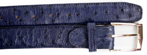 Ostrich Quill Belt- Navy CLOSE OUT
