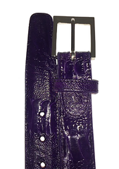 Ostrich Leg Belt- Purple CLOSE OUT