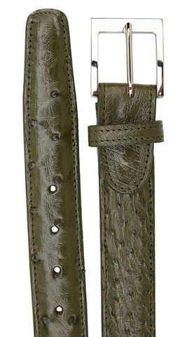 Ostrich Quill Belt- Olive