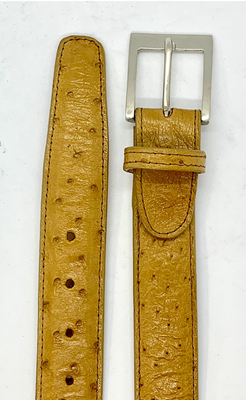 Ostrich Quill Belts- Tan- CLOSE OUT