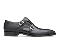 Pablo, Lizard and Ostrich Double Buckle Dress Shoe, Style: R21