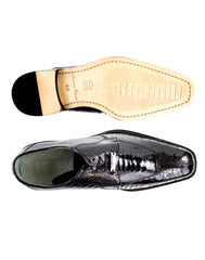 Siena in Black, Genuine Ostrich Dress Shoes, Style: 1463