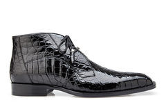 Stefano, in Black Alligator Ankle Boots Style: R17