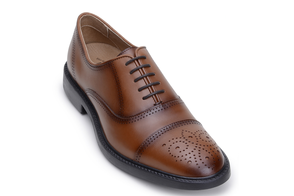 Vincenzo, Vegan Micro Leader Cap Toe Dress Shoe