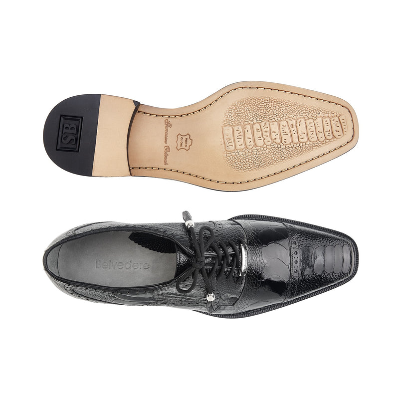 Batta, Ostrich Cap-toed Derby Dress Shoes, Style: 14006