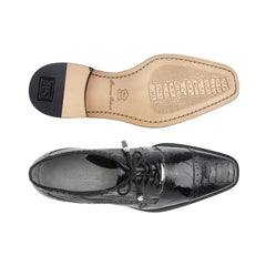Batta, in Black Ostrich Cap-toed Derby Dress Shoes Style: 14006