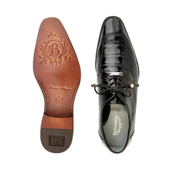 Lorenzo, in Black Split-toed Alligator Derby Shoes Style: B01