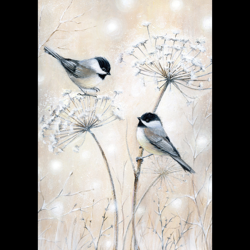 Chickadees and Cow Parsley