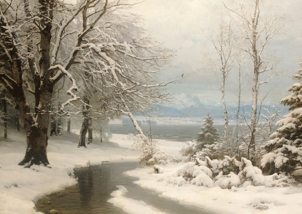 A Wooded Winter Landscape