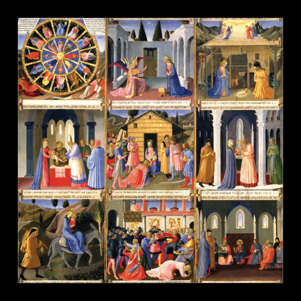 Scenes from the Nativity<br> (140mm x 140mm) <br> Value Range<br>Ref KC9c