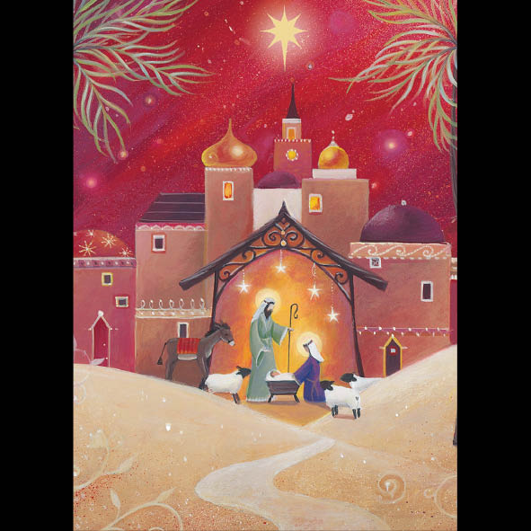 Star over Bethlehem<br> (116 x 160mm) <br> Value range <BR> Ref KZ16e