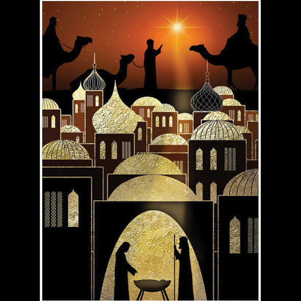 Bethlehem Night<br> (116 x 160mm) <br> Value range <BR> Ref QB29e