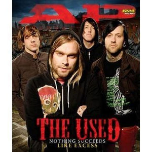 The Used on Alternative Press Magazine Issue 228 Version 2