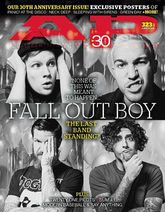Fall Out Boy on Alternative Press Magazine Issue 323 Version 1