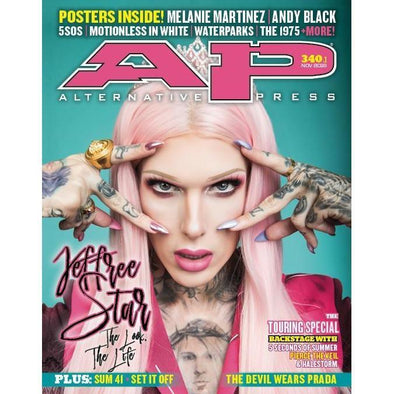 altpress alternative press magazine jeffree start 5 seconds of summer pierce the veil halestorm sum 41 set it off microwave machine gun kelly trophy eyes devil wears prada new years day melanie martinez motionless in white andy black 1975 set it off waterparks posters