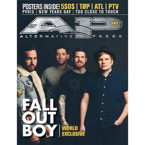 Fall Out Boy on Alternative Press Magazine Issue 347 Version 1