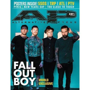Fall Out Boy on Alternative Press Magazine Issue 347 Version 2