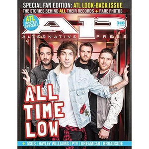 All Time Low on Alternative Press Magazine Issue 348