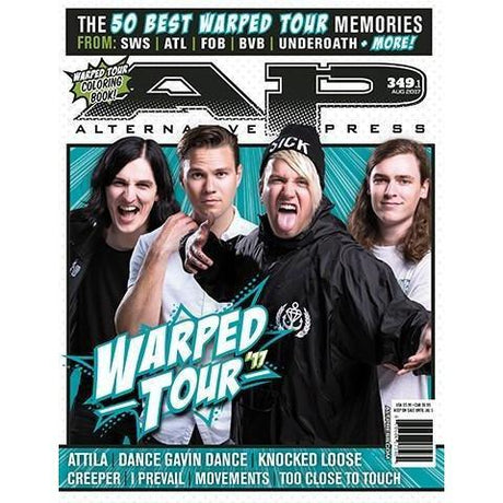 altpress alternative press magazine warped tour 2017 attila creeper dance gavin dance I prevail knocked loose movements too close to touch posters
