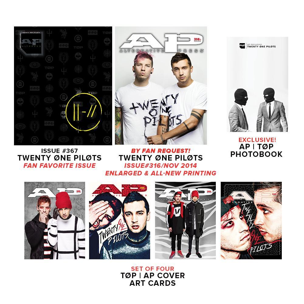 Alternative Press Cover Bundle twenty øne piløts - AP Gold Collection - Fan Favorite Issue - 367 *PREORDER*