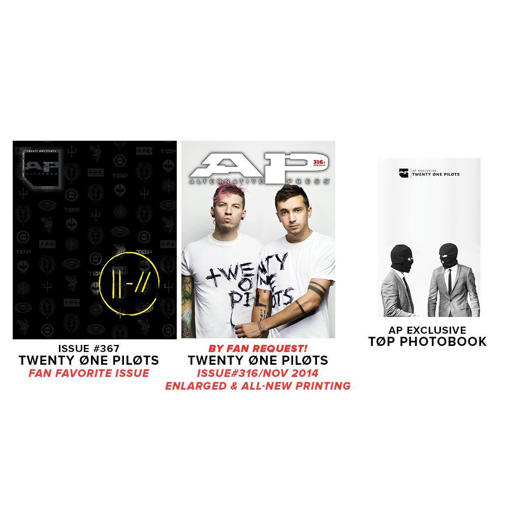 Alternative Press Cover Bundle twenty øne piløts - AP Silver Collection - Fan Favorite Issue - 367 *PREORDER*