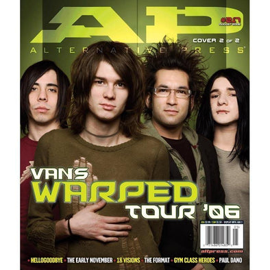 altpress alternative press magazine warped tour 2006 AFI motion city soundtrack anti-flag rise against a AFI motion city soundtrack anti-flag rise against armor for sleep the academy is against me from first to last