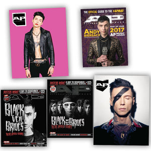 Andy Black (Andy Biersack) on Alternative Press Magazine Collector's Set