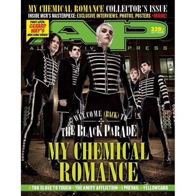 altpress alternative press magazine my chemical romance the word alive crown the empire new years day too close to touch amity affliction yellowcard I prevail bad omens posters