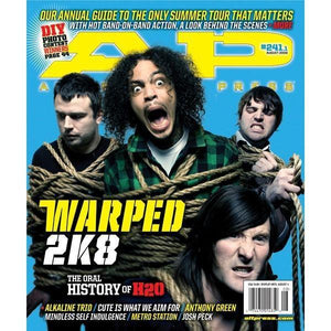 Warped Tour 2008 on Alternative Press Magazine Issue 241 Version 1